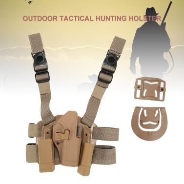 Buy 4 1 Tactical Hunting Airsoft Drop Leg Thigh Rig Holster Platform 2 Pouches Glock G17 19 23