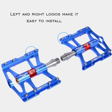 """RockBros Advanced 4 Bearings Fine-quality Mountain Bike Pedals Platform Bicycle Flat 9/16"""" Hollowing Ultralight Aluminum Alloy Bike Pedals Platform Cycling Bearing Mountain Anti-skid Foot Multi-colors Treadle Accessories of Bicycle"""