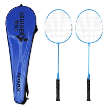 2 Player Badminton Racket Set Indoor Outdoor Sports Students Children Practice Badminton Racquet with Cover Bag