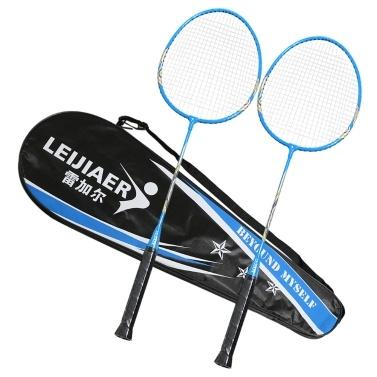 2-Spieler-Badminton-Schlägerset Indoor Outdoor-Sport-Studenten Training üben Badmintonschläger mit Abdecktasche