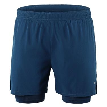 Men 2 in 1 Running Shorts
