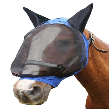 Horse Fly Mask Ear Cover Full Face Armour Mesh