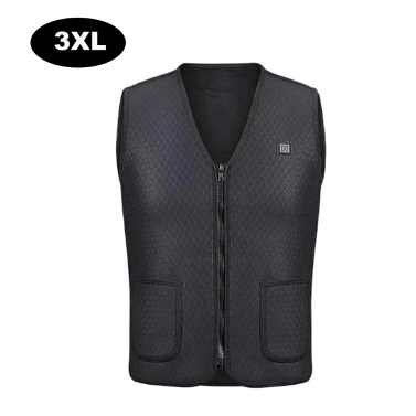 USB Electric Heating Vest Sleeveless Body Warmer Jacket with 3 Adjustable Temperatures Men & Women Heated Clothes for Outdoor Skiing Hiking Motorcycle Camping