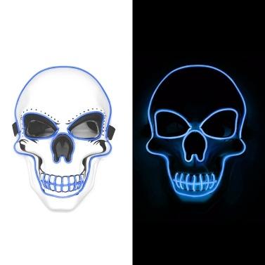 Halloween LED Maske Schädel Maske