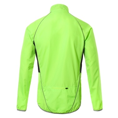 Men Reflective Cycling Jacket Breathable Long Sleeve Bicycle Jersey Wind Coat Vest Outdoor Sportswear