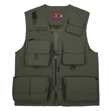 Fishing Photography Vest Summer Multi Pockets Mesh Jackets Quick Dry Waistcoat