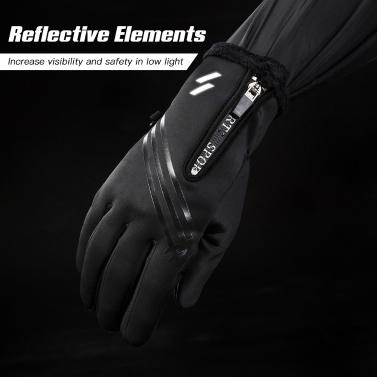 Winter Warm Touchscreen Cycling Gloves Windproof Full Finger Winter Sports Gloves for Men Women Biking Driving Hiking Motorcycling