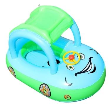 Círculo inflável da natação do bebê do para-sol do assento do flutuador
