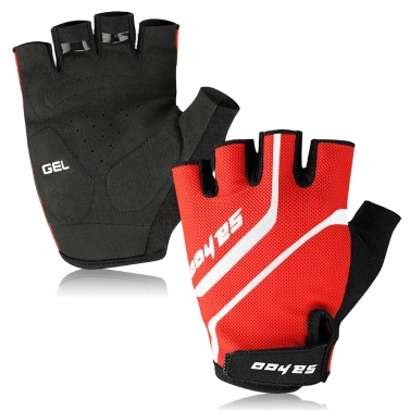 MTB Sport Bike Half Finger Cycling Gloves Anti-skid Bike Short Finger Gloves Weight Lifting Gloves Summer Outdoor Breathable Gloves Fitness Sport Gloves