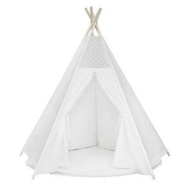 Teepee Tent for Kids Foldable Children Play Tents for Girls and Boys 100% Cotton Canvas Playhouse Toys for Girl and Child Indoor and Outdoor