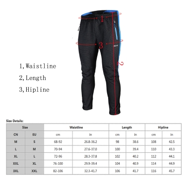 ARSUXEO Winter Cycling Pants Warm Windproof Fleece Thermal Bicycle Long Trousers