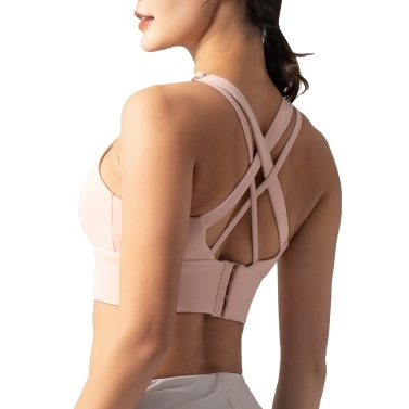 Woman Sports Bra Push-up Shockproof Quick Dry Padded Crop-Top Four Hook-and-eye Tank-Top Underwear Yoga Workout Fitness Running