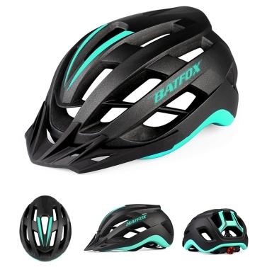 Bike Helmet Lightweight Adjustable Cycling Helmet Mountain Road Bike Helmet with Detachable Sun Visor Quick-Release Unisex