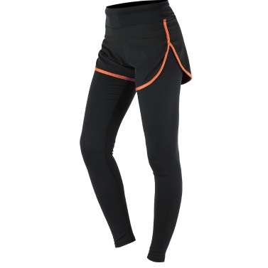 ARSUXEO Damen Fitness Sport Yoga Leggings gefälschte zwei Stück schlank voller Länge Hose