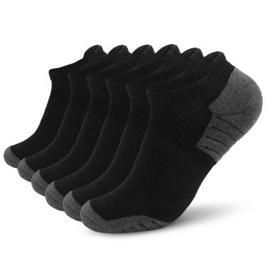 6 Paar Sport-Söckchen Low-Cut-Socken Sportliche Laufsocken Outdoor Fitness Atmungsaktive Schnelltrocknende Socken Verschleißfeste Anti-Rutsch-No-Show-Socken für Marathon-Laufen Radfahren