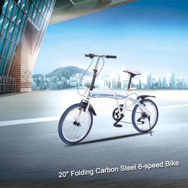 "Lixada 20 ""Folding Carbon Steel U8 Bike 6-Gang-Frauen beweglicher Fahrrad-Speicher Falten"