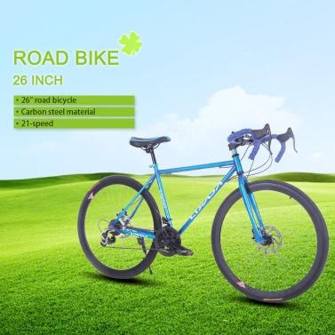 """Lixada 26 """"Carbon Steel Bike 21-Gang-Fahrrad-Fix Fix-Gang-Fahrrad"""