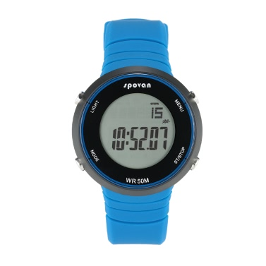 SPOVAN Outdoor Sports Digital Watch Smart Wrist Watch Heart Rate Monitor Pedometer Fitness Tracker Alarm Calendar 5ATM Water Resistant
