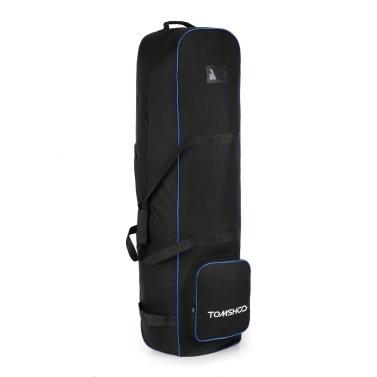 TOMSHOO Smooth Rolling Golf Reisetasche mit Rollenhalterung