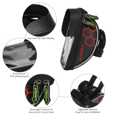 Lixada Cycling Bike Bicycle Bag Top Tube Handlebar Bag Touchscreen Cell Phone Mount Holder MTB Road Bike Bicycle Front Frame Bag