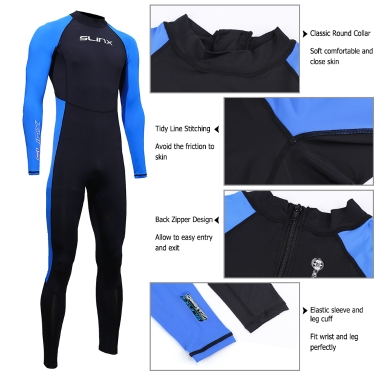 SLINX Unisex Full Body Diving Swimming Surfing Spearfishing Wet Suit
