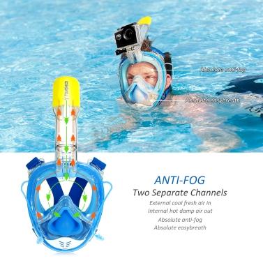 TOMSHOO 180° Panoramic Full Face Swimming Mask