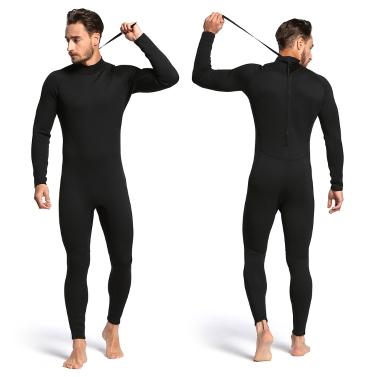 Männer 2mm zurück Reißverschluss Ganzkörper Neoprenanzug Schwimmen Surfen Tauchen Schnorcheln Anzug Overall