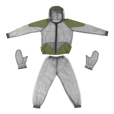 Outdoor Mosquito Repellent Suit Bug Jacket  Mesh Hooded Suits