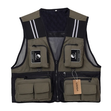 Lixada Outdoor Fishing Waistcoat Sleeveless Mesh Fishing Jacket