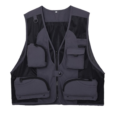 Outdoor Fishing Waistcoat Sleeveless Mesh Fishing Jacket