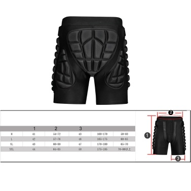 ecd7b802581a Light Solid Skateboard Snowboard SKi Shorts Padded Pants Protection Gear -  US 15.67 Sales Online l - Tomtop