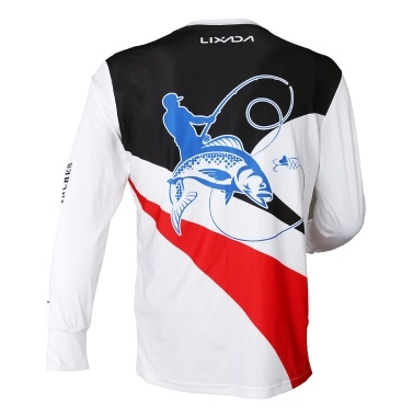 Lixada Long Sleeve Fishing Shirt UPF 50+ Sun Protection Fishing Clothing