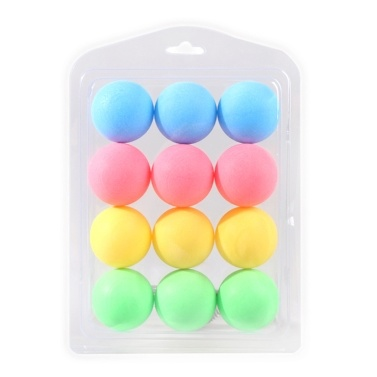 12 Pcs Colorful Ping Pong Balls Table Tennis Decor Balls Multi-functional Ping Pong Ball Amateur Training Practice Balls Entertainment Toy Gift