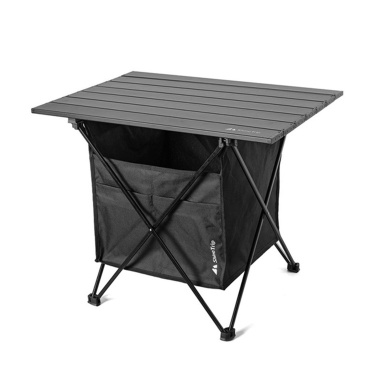 Outdoor Folding Picnic Table with Seat Pocket Camping Desk with Waterproof Tableware Clothes Storage Bag Camping Backyard Use