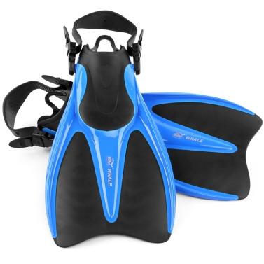 Universal Swim Flossen schwimmende Trainings Flossen mit verstellbarer Ferse zum Schwimmen Tauchen Schnorcheln Wassersport