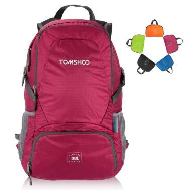 TOMSHOO 30L Ultra Lightweight Water-resistant Nylon Outdoor Backpack