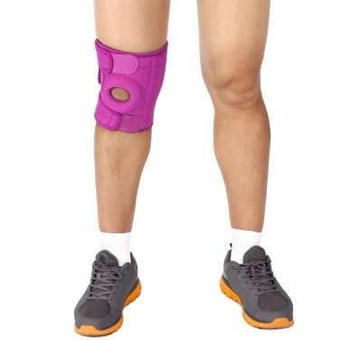 1 PCS Knee Brace Breathable Knee Guard Protector Adjustable Knee Support Brace Strap Open Patella Wrap for Workout Fitness Sports