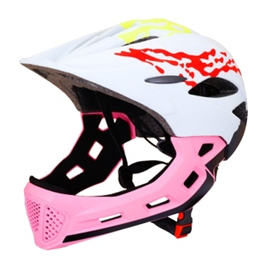 Children Bike Helmet Adjustable Detachable Full Face Helmet for Kids Outdoor   Balance Car Cycling Skateboard Age 3-12 Year Old
