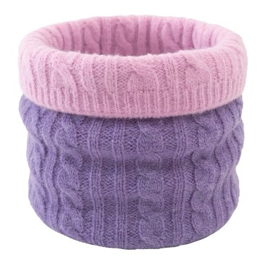 Winter Neck Warmer Gaiter Cable Knitting Double Sided Scarf for Cycling Skiing Camping Hiking