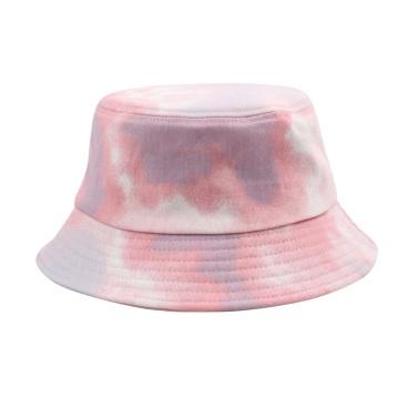 Men Women Tie-Dye Print Fisherman Hat Adjustable Outdoor Bucket Hat Sun Hat