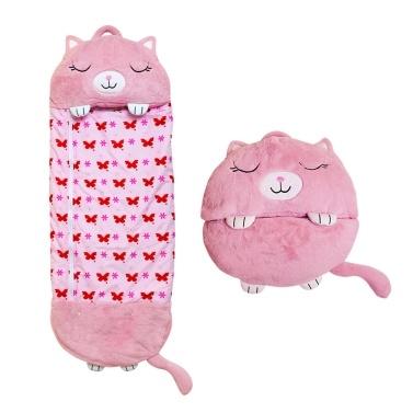 2 in 1 Soft Plush Pillow&Sleep Sack Sleeping Bag Nap Blanket Snuggle Tail Mat Varied Cute Cartoon Animal Design in Bright Colors for Toddler Children Teens Boys Girls, All Season