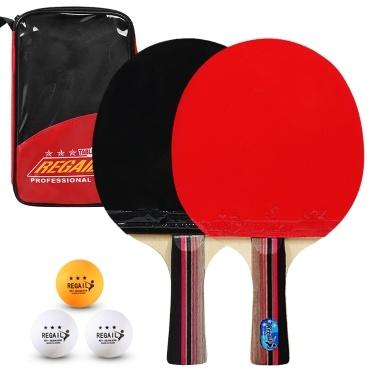 Tischtennispaddel Hochwertige Tischtennisschläger 2 Tischtennisschläger Langer kurzer Griff Tischtennisschlägerset