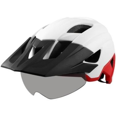 Mountainbike-Helm mit abnehmbarem Visier Abnehmbare Schutzbrille Ultraleicht verstellbarer MTB-Fahrradfahrradhelm Männer Frauen Sport Outdoor-Schutzhelm