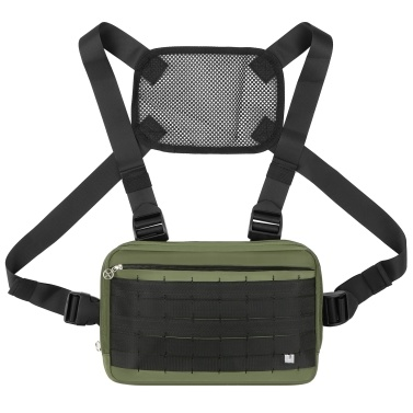 Outdoor Sports Chest Bag Tactical Chest Bag Hands Free Running Backpack Vest Adjustable Shoulder Pack Radio Holder