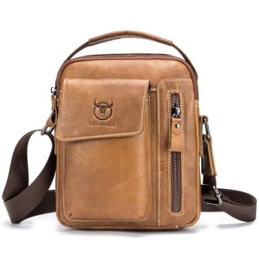 Men Vintage Genuine Leather Shoulder Bag Outdoor Sports Travel Crossbody Bag Handbag Casual Bag Pack