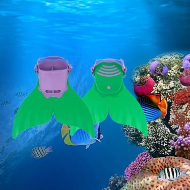 Kind Kinder Mermaid Swim Fin Tauchen Monoflosse Schwimmen Fuß Flipper