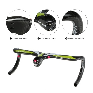 Lixada Bicycle Integrated Handle Green