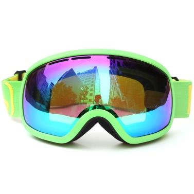 Skifahren Snowboarden Skating Brille UV-Schutz Anti-Fog-Weit Sphärische PC-Objektiv Anti-Rutsch-Bügel-Helm-kompatibel