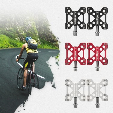Wellgo Mountain Bike Pedals Lightweight Aluminum CNC Sealed Bearing Bicycle Pedal Cycling Pedals
