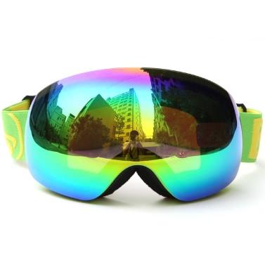 Winter-Ski-Schutzbrille UV400 Schutz-Doppelobjektiv-Snowboard-Schutzbrille Sphärisches Schnee-Skaten Skifahren-Sport-Schutzbrille Abnehmbare Objektiv-Schutzbrillen